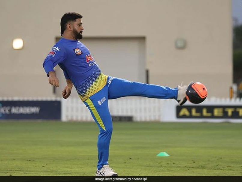 IPL 2021: MS Dhoni, CSK Players Warm Up For RCB Clash With A Game Of Football. See Pics