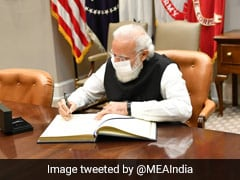 PM Modi Signs Visitors' Book At White House, Inks New Chapter In India-US Ties