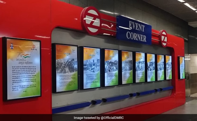 At Delhi Metro Stations, Posters Of Landmark Events Of India's Freedom Struggle
