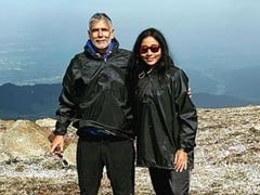 """""""The Views From 14,000 Feet Were Spectacular"""": Milind Soman And Ankita Konwar Are Trekking In Kashmir"""