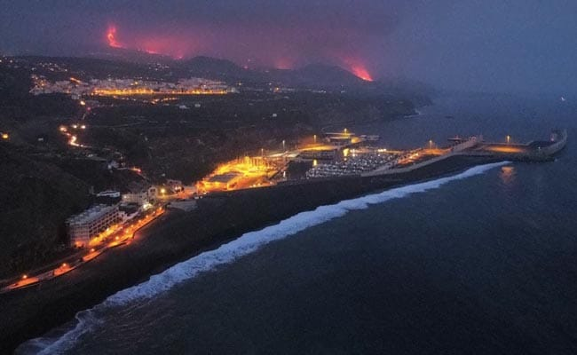 9 Days After Eruption, Volcano Lava Reaches Sea In Spain