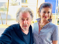 """""""Such An Honour"""": Pooja Batra Posts Pics With Al Pacino From Los Angeles"""