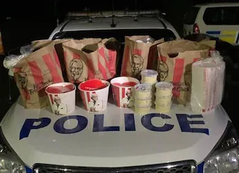 New Zealand Men Caught With KFC Takeaway In Car Trunk, Arrested By Police