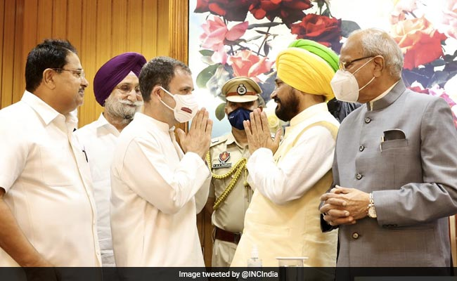 Punjab Cabinet Finalised After Discussion With Rahul Gandhi: Sources