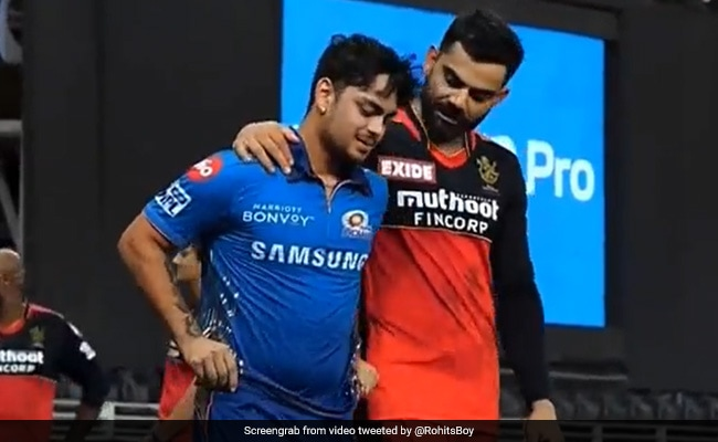 IPL 2021 Watch Virat Kohli consoles a very dejected Ishan Kishan after MI lost to RCB