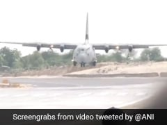 Watch: IAF Emergency Landing Drill On Highway, 2 Ministers On Board