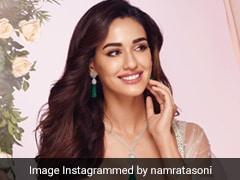 Disha Patani Looks Like The Most Stunning Contemporary Bride In A Shimmery <i>Lehenga</i>