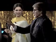 <I>Kaun Banega Crorepati 13</i>: The ROFL Moment Amitabh Bachchan Recreated <I>Om Shanti Om</i> Scene With Deepika Padukone
