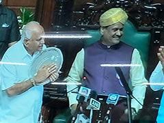 Lok Sabha Speaker Addresses Karnataka Assembly, Congress Boycotts Session