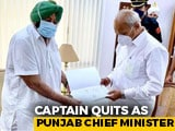 """Video : """"Humiliated"""" Amarinder Singh Quits As Chief Minister, Says Options Open"""