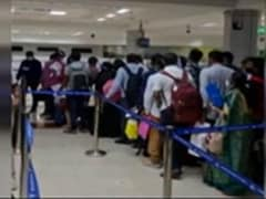 Covid Scare At Chennai Airport As Hundreds Jostle After Arrival