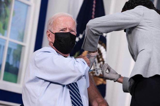 US President Joe Biden Gets COVID-19 Vaccine Booster Shot