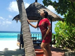 """""""Here Comes The Sun"""": Tanishaa Mukerji Shares A Dreamy Pic From Maldives Vacation"""