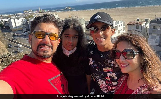 Need 'Travel Therapy'? Madhuri Dixit's Vacation Pics With Husband Shriram Nene And Sons Have Got You Covered