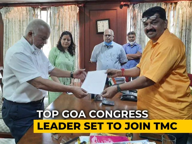 Video : Goa Congress Leader Quits, Likely To Join Team Mamata On Wednesday