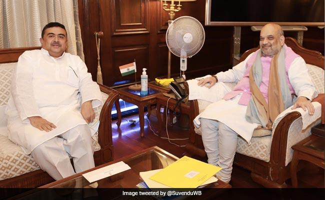 Suvendu Adhikari Meets Amit Shah, Discusses Law And Order Situation In Bengal