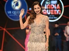 Malaika Arora, An Autumnal Angel In A Sparkly Feathered Marchesa Dress And Dark Lips