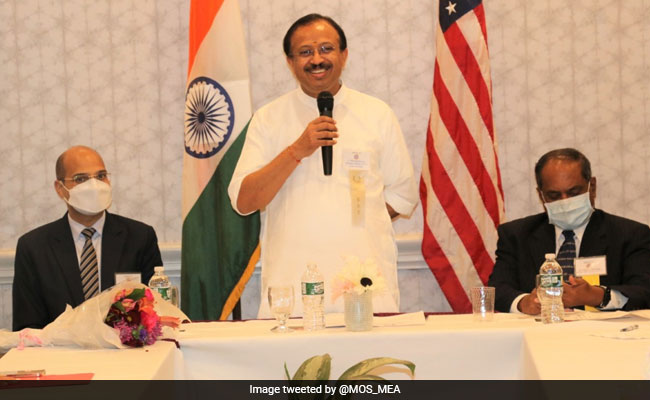 , Union Minister V Muraleedharan Meets Indian Community In US' Connecticut, The World Live Breaking News Coverage & Updates IN ENGLISH