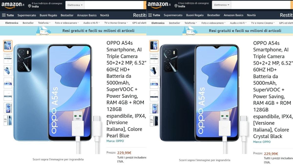 50MP कैमरा व 4GB रैम के साथ Oppo A54s स्मार्टफोन Amazon Italy पर लिस्ट! कीमत और स्पेसिफिकेशन लीक