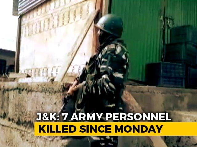 Video : Army Officer, Soldier Killed In Action In Counter-Terror Op In J&K