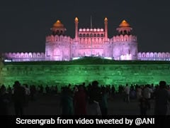 Watch: Red Fort, Qutub Minar Lit In Tricolor To Mark 1 Billion Jabs Feat