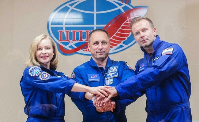 The Russian film crew exploded to make the first film in space