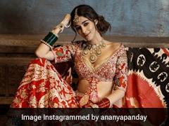 Ananya Panday's Bridal <i>Lehenga</i> May Just Be Bold Enough To Make You Skip A Beat