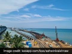 Stunning Pics Of New Pamban Bridge, India's 1st Vertical Lift Sea Bridge