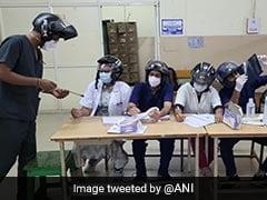 Doctors Wear Helmet On Duty To Protest After Fan Falls On Colleague
