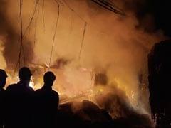 Fire At Godown In Delhi