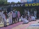 Video : Namaz Disrupted With 'Jai Shri Ram' Chants At Designated Gurgaon Spot