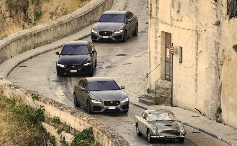 The Jaguar XF was part of a chase sequence weaving through narrow streets and on cobbled steps