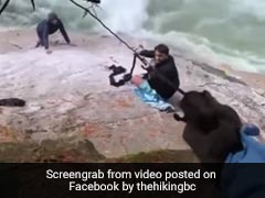 Watch: Sikh Men Use Turbans To Rescue Hikers From Waterfall