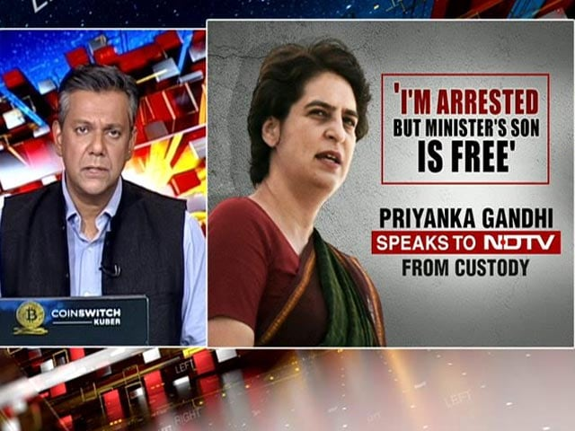 """Video : Exclusive: """"Was Not Shown Any Papers,"""" Priyanka Gandhi Tells NDTV From UP Police Custody"""