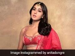 Sara Ali Khan's Red Anita Dongre <i>Lehenga</i> Sets The Festive Bar Quite High