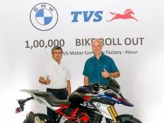 टीवीएस ने होसुर प्लांट में 1 लाख बीएमडब्ल्यू 310 सीसी मोटरसाइकिल बनाने का आंकड़ा पार किया