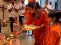 Navratri 2021: Inside Shilpa Shetty's Festivities With Daughter Samisha And Son Viaan