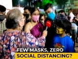 Video : Covid Protocols Take A Backseat In Several Durga Pandals In Kolkata