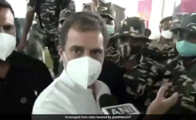 'Not In Your Car': The Stand-Off And Drama After Rahul Gandhi Landed
