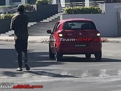 Next-Gen Maruti Suzuki Celerio Spotted During TVC Shoot