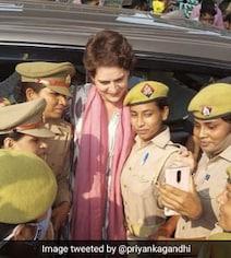 'Heard Yogi Ji's So Hurt By This Pic...': Priyanka Gandhi On Cops' Selfie