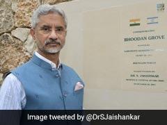 Foreign Minister S Jaishankar Unveils Plaque At Bhoodan Grove In Israel