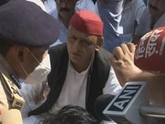 Akhilesh Yadav Detained After Protest Outside Home Over 8 Deaths In UP