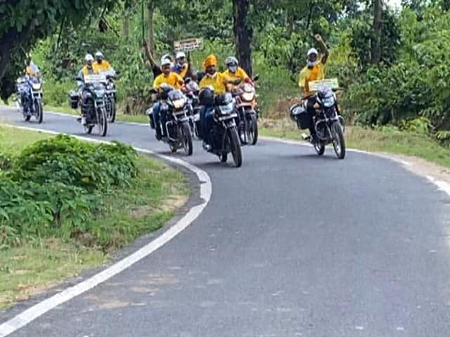Video : Bike Rally In Jharkhand To Raise Public Awareness On Child Education