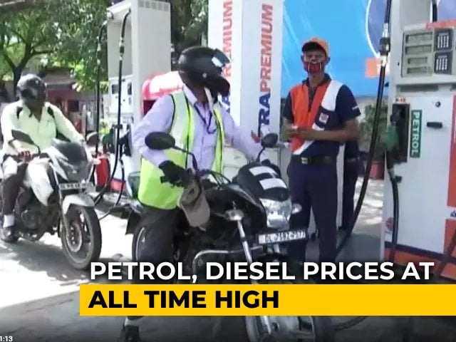 Video : Petrol And Diesel Prices Hit A New Record High With Latest Price Hike