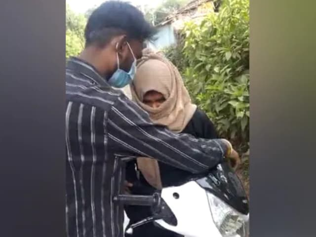 Video : Woman Riding Pillion Forced To Take Off Hijab In Madhya Pradesh