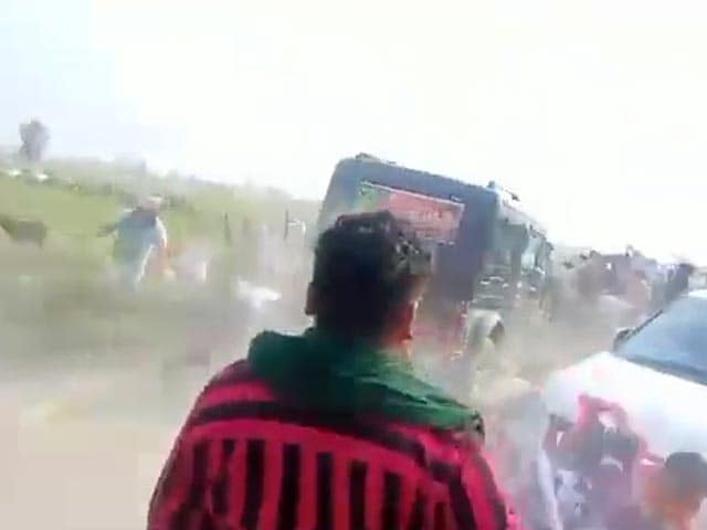 Video : New Video Shows Minister's SUV Ram Unarmed Farmers At Great Speed