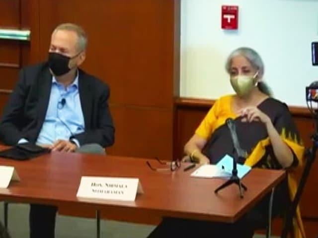 "Video : Nirmala Sitharaman's Swipe At Amartya Sen: ""Worrying That Scholars..."""