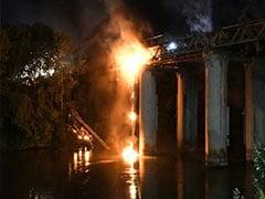 Huge Fire Damages 19th Century 'Iron Bridge' In Rome