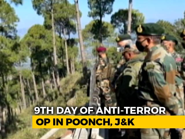 Video : Locals Asked To Stay Indoors As Anti-Terror Ops In J&K's Forest Enter Day 9